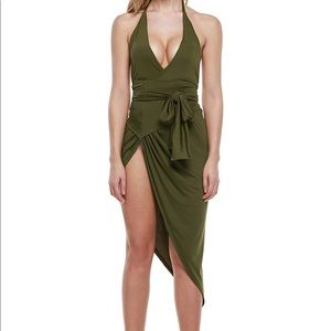 Sexy Halter Wrap Backless Short Party Dress